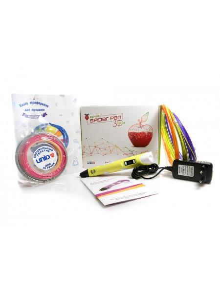 3D ручка Spider Pen PLUS c ЖК-Дисплеем желтый, голубой, сиреневый, розовый