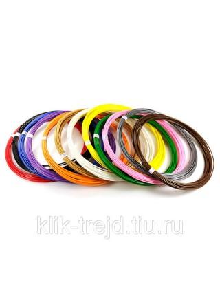 Пластик ABS-12 для 3D ручек (по 10 м. 12 цветов в коробке)