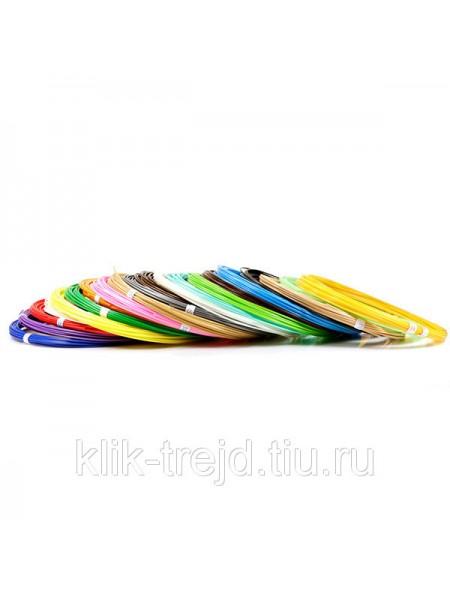 Пластик ABS-20 для 3D ручек (по 10м. 20 цветов в коробке)