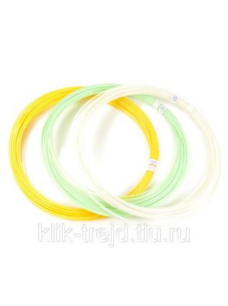 Пластик PLA-F3 для 3D ручек (по 10м. 3 цвета)