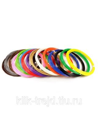 Пластик ABS-15 для 3D ручек (по 10м. 15 цветов в коробке)