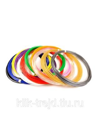 Пластик PLA-12 для 3D ручек (по 10м. 12 цветов в коробке)