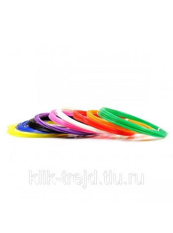 Пластик PLA-9 для 3D ручек (по 10м. 9 цветов в коробке)
