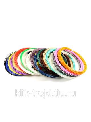 Пластик PLA-20 для 3D ручек (по 10м. 20 цветов в коробке)