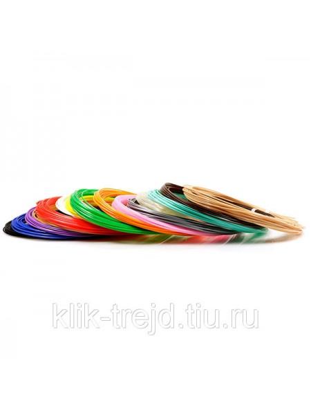 Пластик PLA-15 для 3D ручек (по 10м. 15 цветов в коробке)