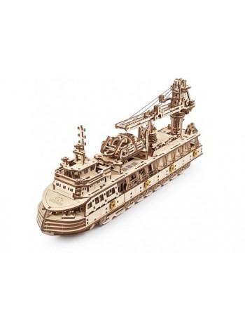 Сборная модель UGEARS Научно-исследовательское судно