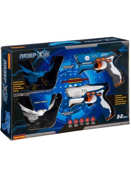 Набор из 2-х космических ик-бластеров и 2-х масок-мишеней «ЛАЗЕР-Жук» Оружие Bondibon