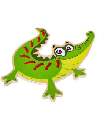 «Шнуровка Крокодил» деревянная игрушка BONDIBON