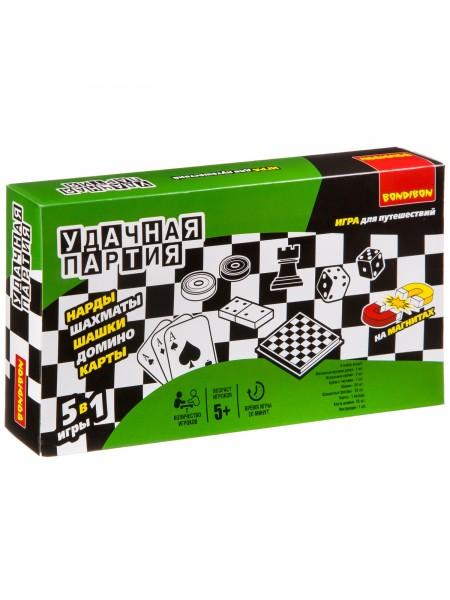 Домино, нарды, шашки, шахматы, карты - набор игр BONDIBON