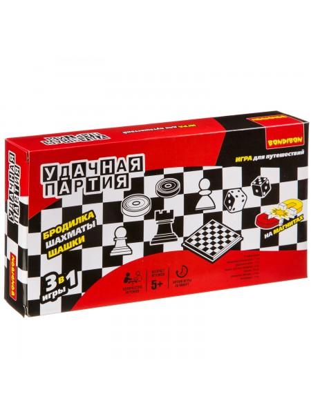 Шашки, шахматы, бродилки - набор игр BONDIBON