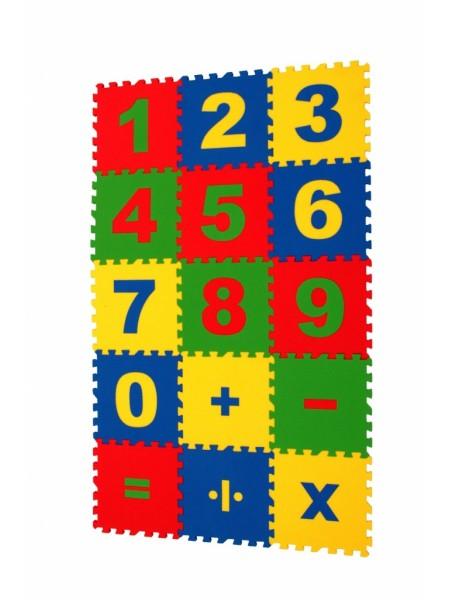 Математика (15 пазлов, 25×25 см) Мягкий пол ECO COVER