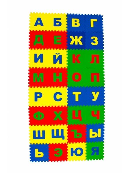 Алфавит русский (32 пазла, 25×25 см) Мягкий пол ECO COVER