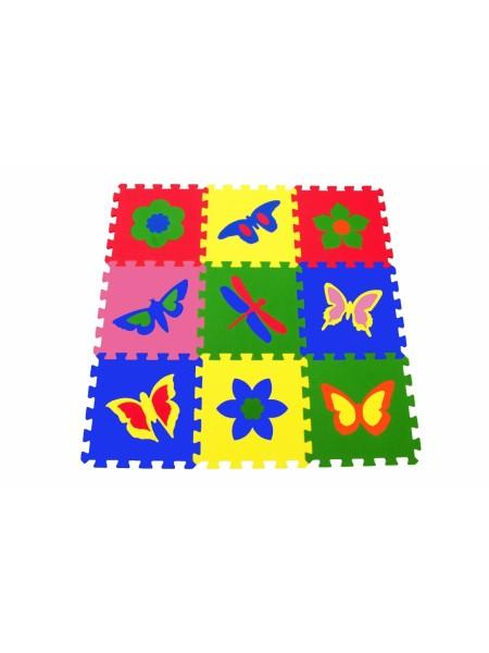 Бабочки (9 пазлов, 33×33 см) Мягкий пол ECO COVER