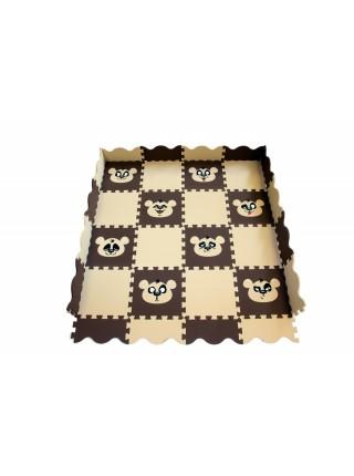 Панда (36 пазлов, 33х33см) Мягкий пол с бортиками ECO COVER