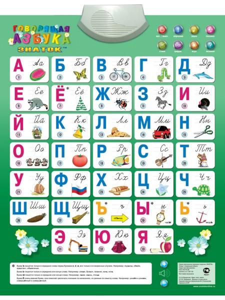 «Говорящая Азбука»  звуковой плакат ЗНАТОК